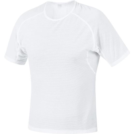 Gore spodní triko pánské krátký rukáv Base Layer White