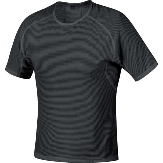 Gore spodní triko pánské krátký rukáv Base Layer Black