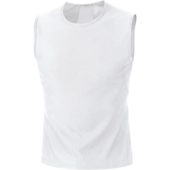 Gore spodní triko pánské bez rukávu Base Layer White