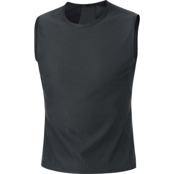 Gore spodní triko pánské bez rukávu Base Layer Black