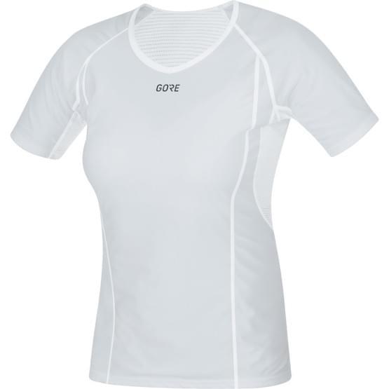 Gore spodní triko dámské krátký rukáv Base Layer WS Light Grey/White