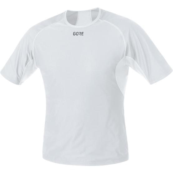 Gore spodní triko pánské krátký rukáv Base Layer WS Light Grey/White