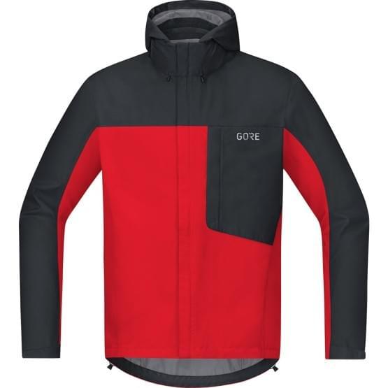 Gore bunda pánská C3 GTX Paclite Hooded Jacket Red/Black