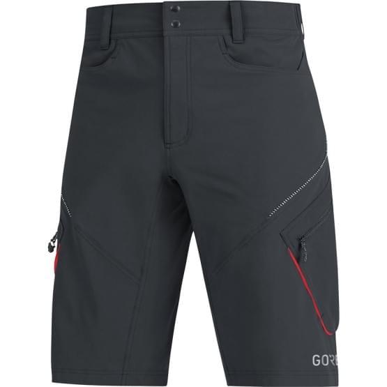 Gore šortky pánské C3 Trail Black/Red