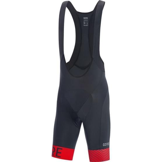 Gore kalhoty pánské krátké laclové C5 Optiline+ Black/Red