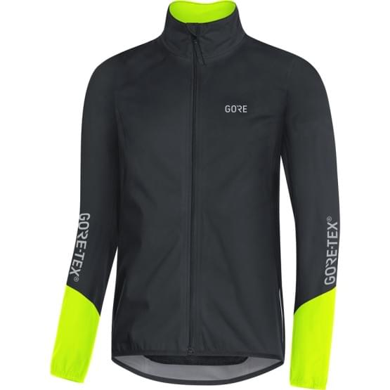 Gore bunda pánská C5 GTX Active Jacket Black/Neon Yel