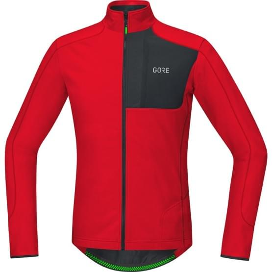 Gore dres dlouhý rukáv C5 Thermo Trail Jersey Red/Black