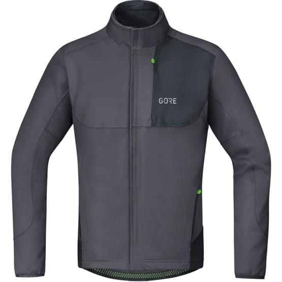 Gore bunda pánská C5 WS Thermo Trail Jacket Terra Grey/Black