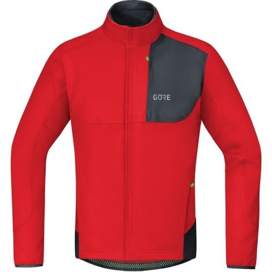 Gore bunda pánská C5 WS Thermo Trail Jacket Red/Black
