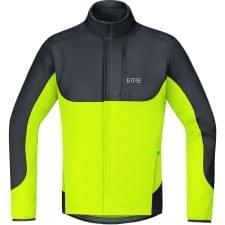 Gore bunda pánská C5 WS Thermo Trail Jacket Black Neon Yellow