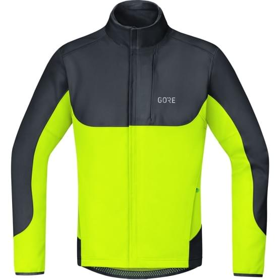 Gore bunda pánská C5 WS Thermo Trail Jacket Black Neon Yellow