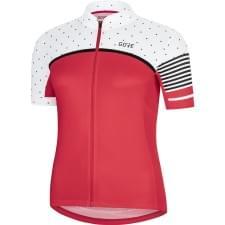 Gore dres dámský krátký rukáv C7 CC Hibiscus Pink/White
