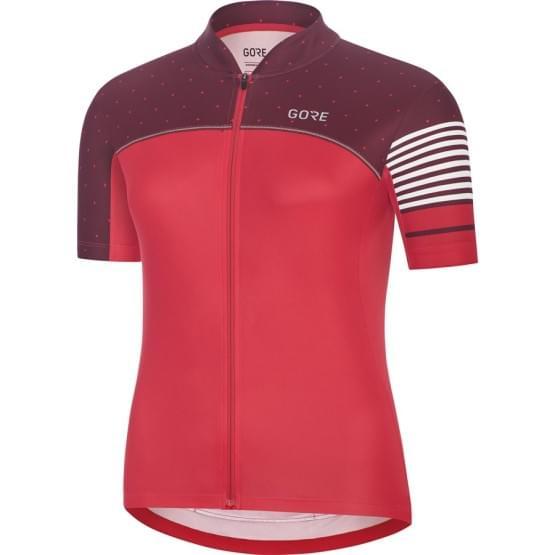 Gore dres dámský krátký rukáv C5 Hibiscus Pink/Chestnut Red