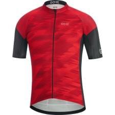 Gore dres pánský krátký rukáv C3 Knit Design Red/Blk