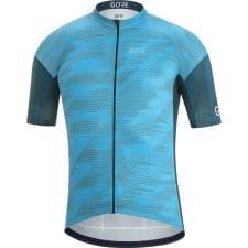 Gore dres pánský krátký rukáv C3 Knit Design Dynamic Cyan/Orbit Blue