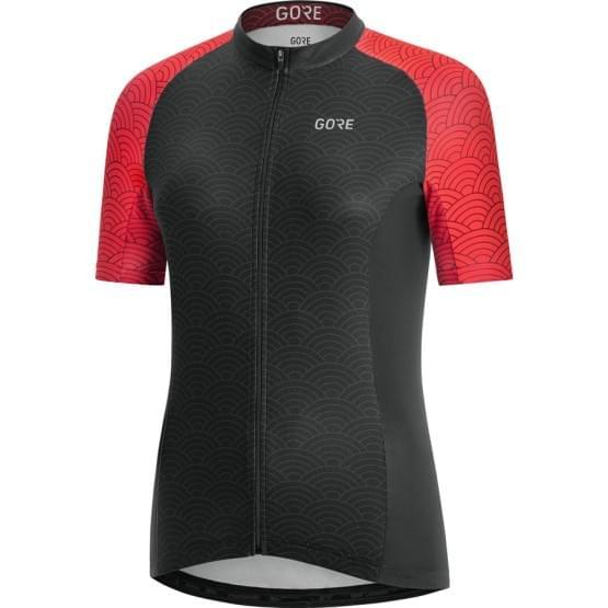 Gore dres dámský krátký rukáv C3 Ondasia Black/Hibiscus Pink