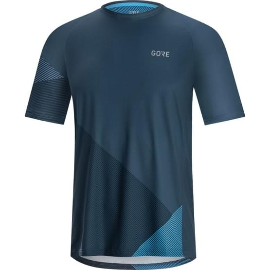 Gore dres pánský krátký rukáv C5 Trail Deep Water Blue/Dynamic Cyan