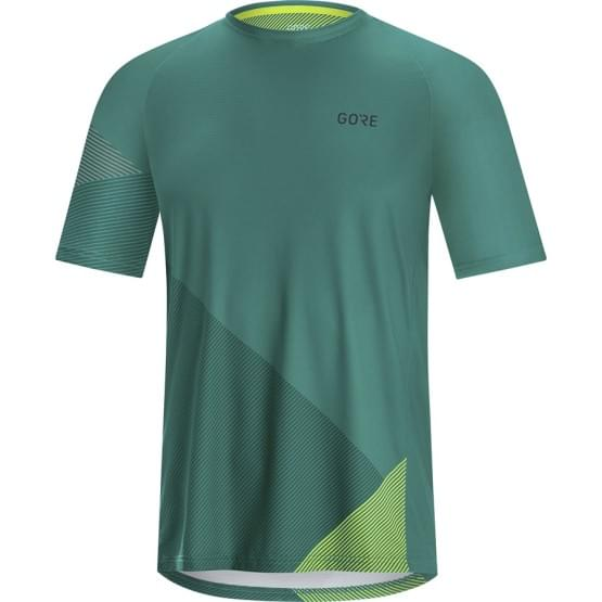 Gore dres pánský krátký rukáv C5 Trail Nordic/Citrus Green