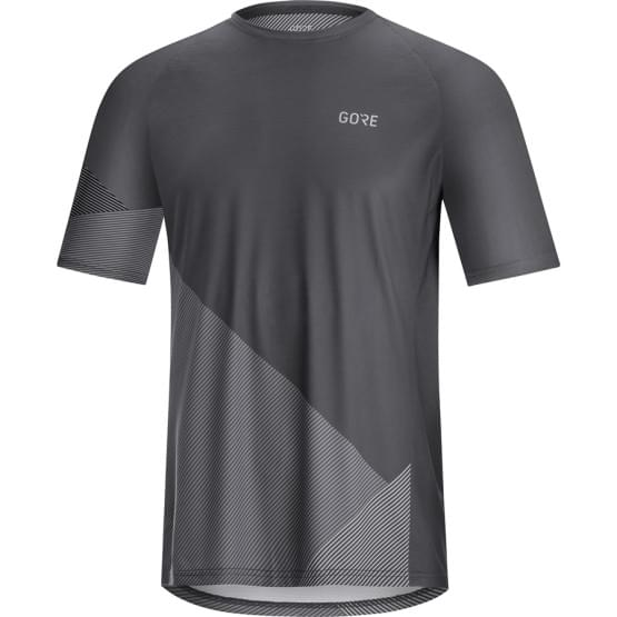 Gore dres pánský krátký rukáv C5 Trail Dark Graphite Grey/Graphite Grey