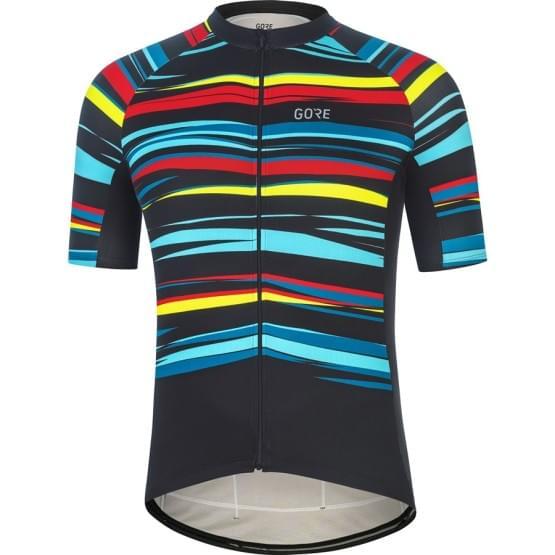 Gore dres pánský krátký rukáv Savana Black/Multicolor