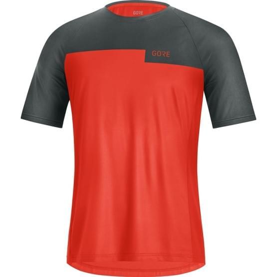 Gore dres krátký rukáv pánský Trail Shirt Fireball/Urban Grey
