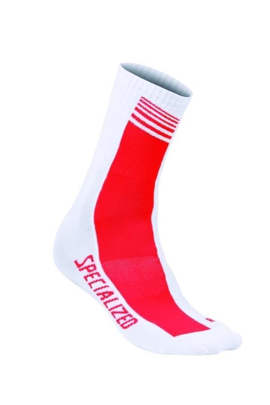 Ponožky Specialized SL TEAM 16 WHT/RED TEAM