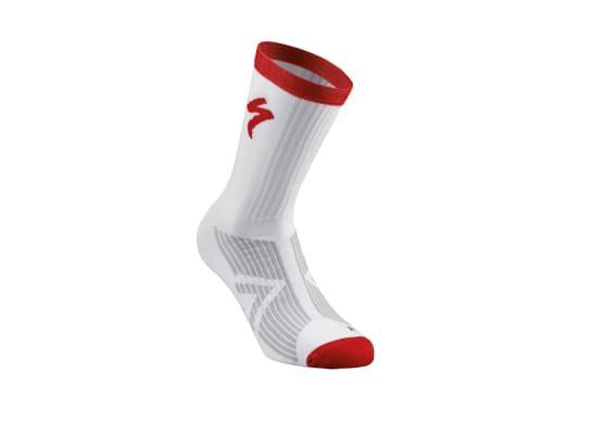 Ponožky Specialized pánské SL ELITE SUMMER SOCK WHITE/RED