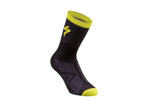 Ponožky Specialized pánské SL ELITE SUMMER SOCK BLACK/NEON YELLOW
