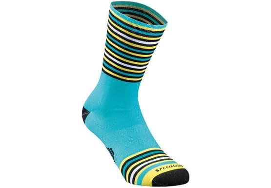 Ponožky Specialized pánské FULL STRIPE SUMMER SOCK NICEBLU/BLK/YEL