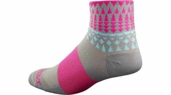 Ponožky Specialized RBX MID WMN 16 LT GRY/NEON PINK