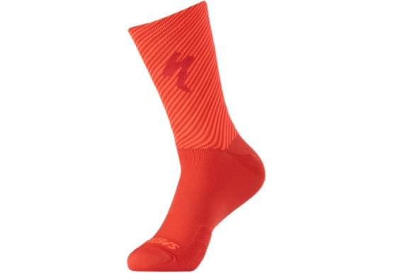 Ponožky Specialized SOFT AIR TALL LOGO SOCK FLORED/RKTRED
