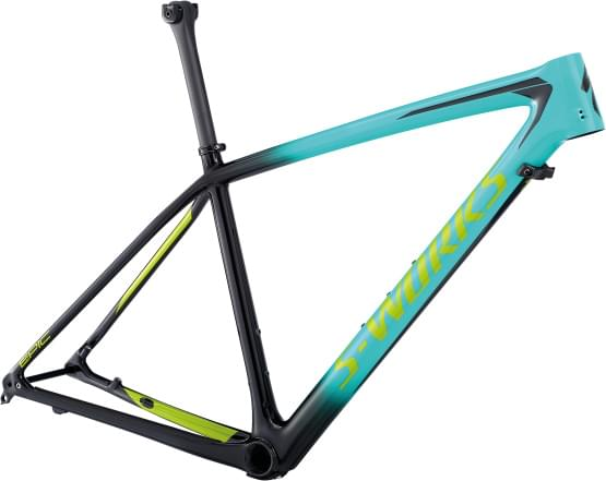 Rám Specialized 2018 S-Works Epic ht Carbon 29 GLOSS ACID MINT / COSMIC BLACK / HYPER GREEN