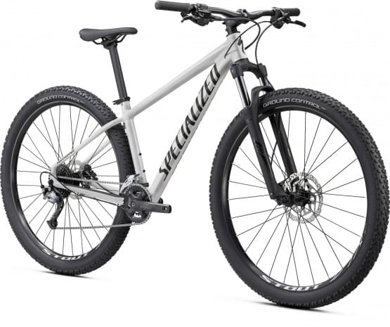 Horské kolo Specialized Rockhopper Comp 29 2x 2021 GLOSS METALLIC WHITE SILVER / SATIN BLACK