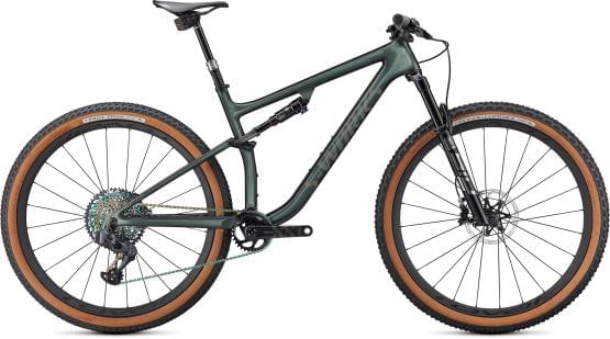 Horské kolo Specialized S-WORKS EPIC EVO GLOSS OAK GREEN METALLIC/DIAMOND DUST