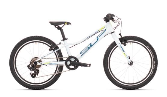 Dětské kolo Superior Racer XC 20 Gloss White/Petrol Blue/Neon Yellow 2021
