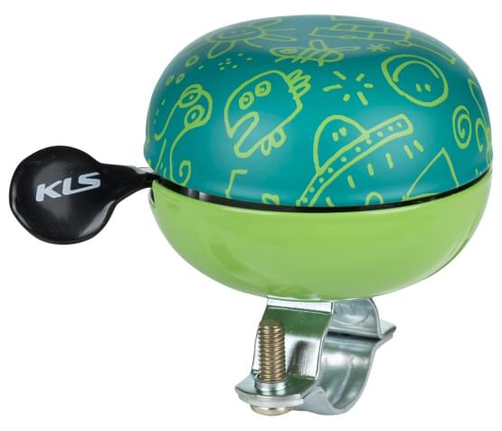 Cyklistický Zvonek KELLYS Bell 60 Doodles zelený