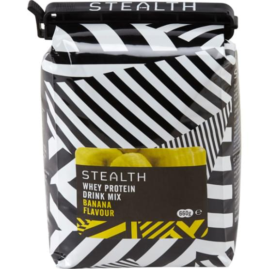 STEALTH Whey Protein drink mix Banana 660g