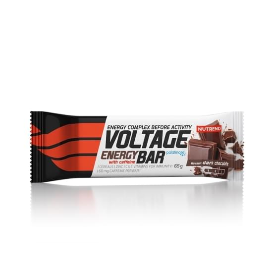 Nutrend Voltage energy bar with caffeine 65g hořká čokoláda